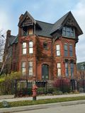 Detroit: Old Brick Victorian Home Stock Photo