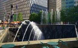 Detroit parkerar och monumentet Royaltyfri Bild