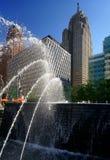 Detroit parkerar och monumentet Arkivfoto