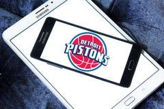 Detroit Pistons american basketball team logo Stock Image