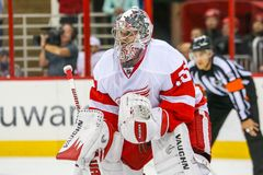 Detroit Red Wings bramkarz Jimmy Howard Zdjęcia Stock
