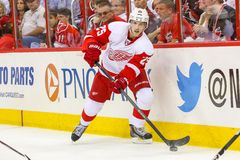 Detroit Red Wings centrum Cory Emmerton Obraz Stock