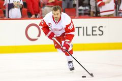 Detroit Red Wings centrum Henrik Zetterberg Zdjęcia Stock