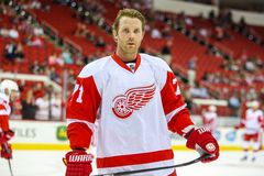 Detroit Red Wings prawica Daniel Cleary Obrazy Royalty Free
