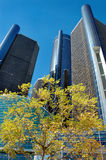 Detroit Renaissance Center Stock Photo