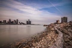 Detroit River Fotografia Stock