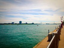 Detroit River Royaltyfria Bilder