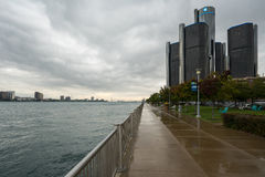 Detroit River Cloudscape Royalty Free Stock Photography