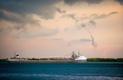 Detroit River Shipping Royalty Free Stock Photography