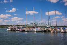 Free Detroit River South Boat Marina Stock Images - 46902244
