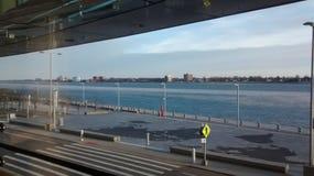 Detroit rzeka obrazy royalty free
