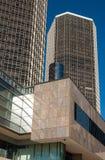 Towering Renaissance Building Detroit. Detroit`s iconic Ren Cen complex building downtown stock images