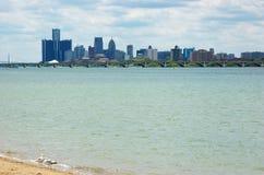 Detroit-Skyline 1 Lizenzfreies Stockfoto