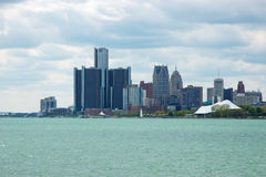 Detroit-Skyline 2 Lizenzfreie Stockfotografie