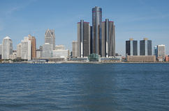 Detroit Skyline 2012 Royalty Free Stock Photo