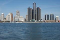 Detroit-Skyline 2012 Lizenzfreies Stockfoto