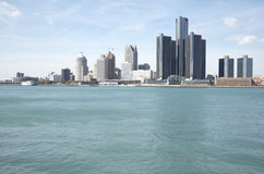 Detroit Skyline Royalty Free Stock Photography