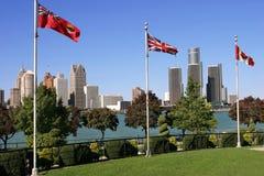 Detroit skyline Stock Image