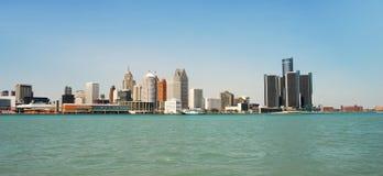 Detroit skyline royalty free stock photography