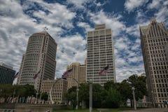 Detroit-Skyline Lizenzfreie Stockbilder