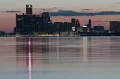 Detroit skyline stock images