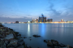 Detroit skyline Stock Photography