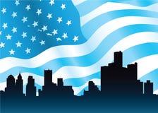 Detroit Skyline Royalty Free Stock Image