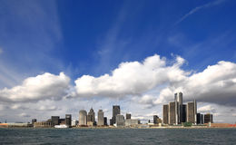 Detroit stad Fotografering för Bildbyråer