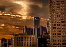 Detroit-Stadt-Gebäude Stockfotos