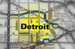 Detroit stat av Michigan - Förenta staterna Arkivbilder