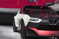 DETROIT, STYCZEŃ - 26: Nissan IDx NISMO pojęcia samochód przy Żadny Zdjęcia Stock