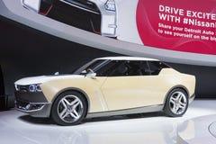 DETROIT, STYCZEŃ - 26: Nissan IDx pojęcia Freeflow samochód przy Fotografia Stock