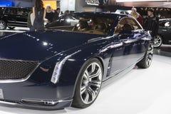 DETROIT, STYCZEŃ - 26: Nowy Cadillac Elmiraj pojęcia samochód przy Th Zdjęcia Royalty Free