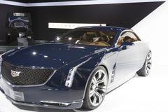 DETROIT, STYCZEŃ - 26: Nowy Cadillac Elmiraj pojęcia samochód przy Th Fotografia Stock