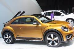 DETROIT, STYCZEŃ - 26: Volkswagen Beetle Wydmowy pojęcie przy Obrazy Royalty Free