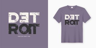 Detroit stylish t-shirt and apparel design. Vector print, typogr Stock Illustration