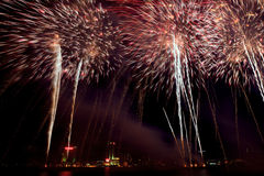 Detroit Target Fireworks Display Royalty Free Stock Image