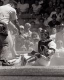 Lance Parrish, Detroit Tigers. Detroit Tigers catcher Lance Parrish. Image taken from B&W negative Stock Photo