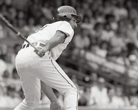 Fred Lynn, Detroit Tigers. Detroit Tigers outfielder Fred Lynn. Image taken from B&W negative Stock Images