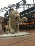 Detroit Tigers Statue. Tigers statue at Comerica Park, Detroit, MI stock photos