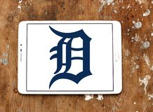 Detroit Tigersbasketlaglogo arkivbild