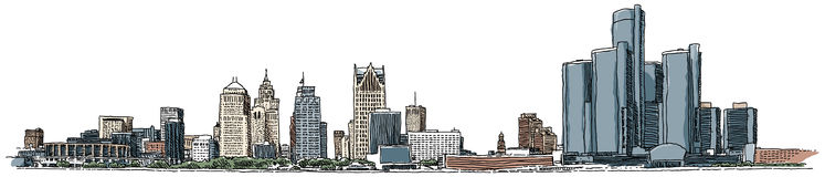 Detroit-Ufergegend Lizenzfreie Stockbilder