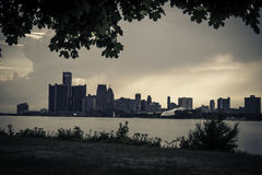 Detroit. View of Detroit from Belle Isle State Park royalty free stock photos