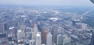 Detroit vom Himmel stockbild