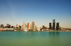 Detroit waterfront Royalty Free Stock Image
