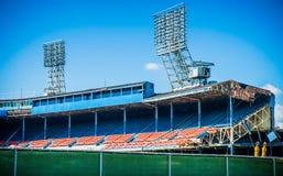 Detroits老泰格体育场爆破 免版税库存图片