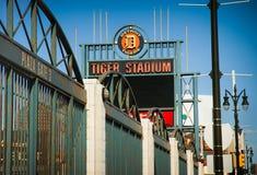 Detroits gamla Tiger Stadium Demolition Arkivfoto