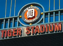 Detroits gamla Tiger Stadium Demolition Royaltyfri Fotografi