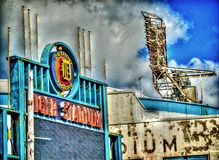 Detroits gamla Tiger Stadium Demolition i HDR effekt Royaltyfri Bild