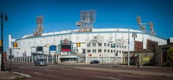 Detroits Tiger Stadium Demolition idoso fotos de stock